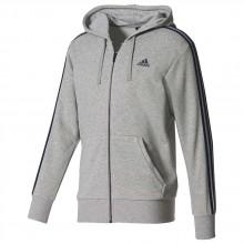 adidas Essentials 3 Stripes Full Zip Hood French Terry