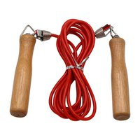 Softee PVC Skipping Rope With Wooden Handle